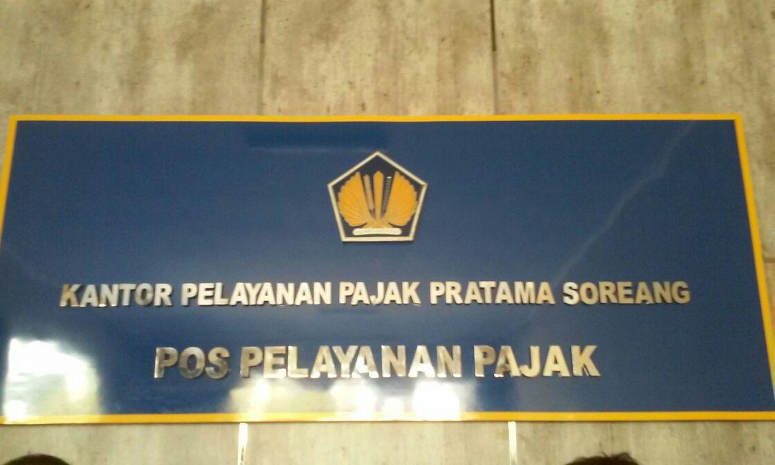 Plang Papan Reklame kantor pajak kabupaten bandung