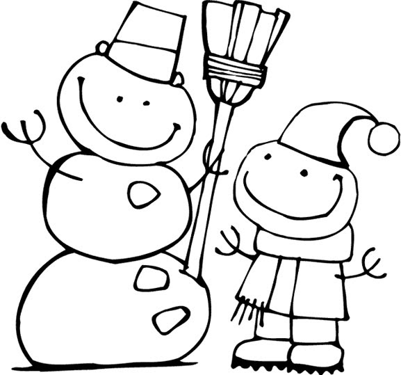 fre snowman coloring pages - photo#13