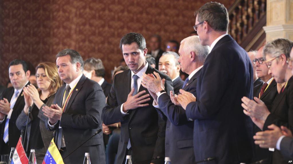 El presidente encargado de Venezuela en una reciente reunión del Grupo de Lima en Colombia / AP