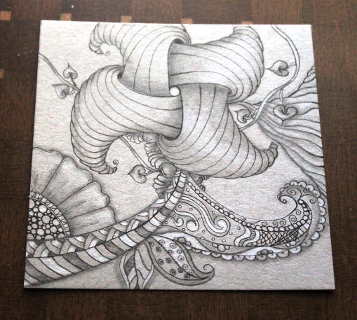 Trelina zentangle after shading