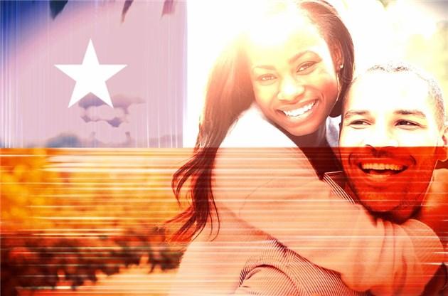 montagem de fotos bandeira do chile