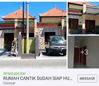 Dijual Rumah Batubulan Bali Murah