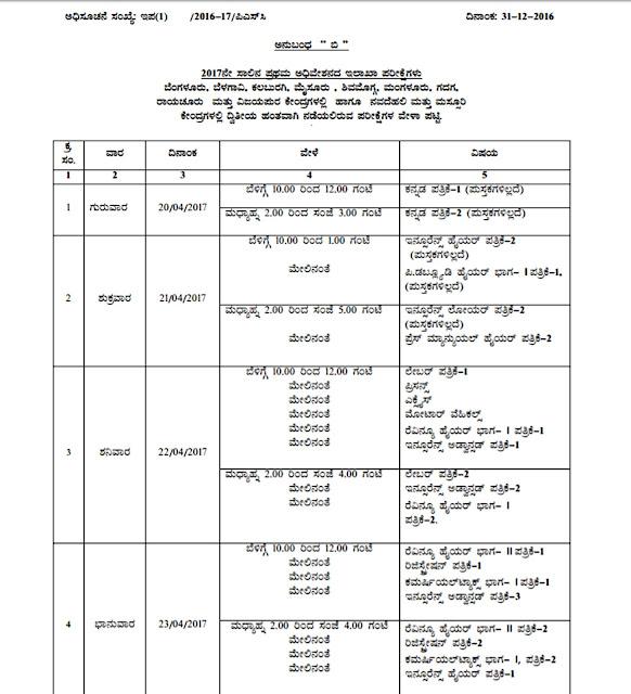 KPSC Departmental Examination