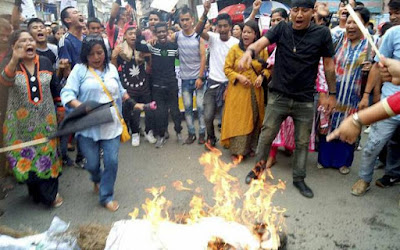 Protest against CM Mamata in Darjeeling
