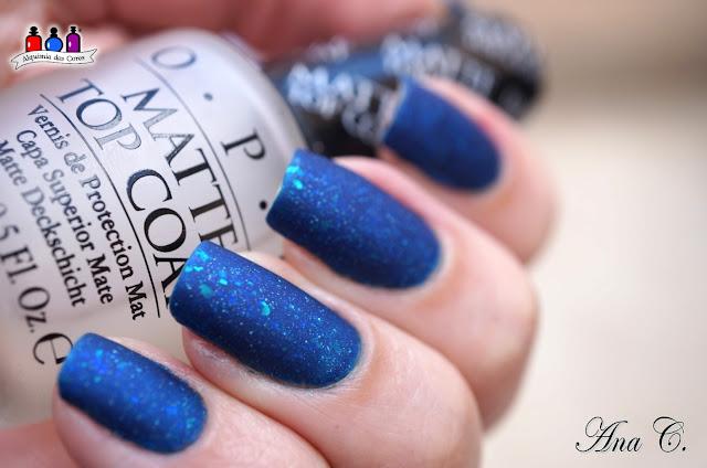bow nail polish, drown. opi matte top coat