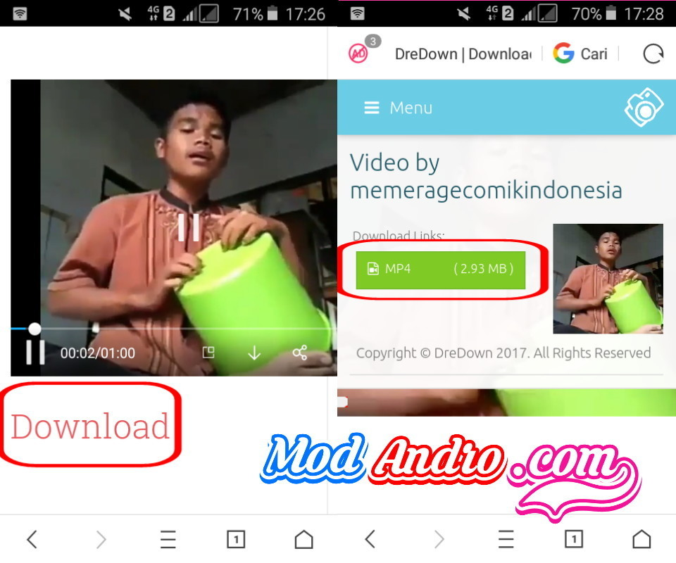 cara download  video instagram web