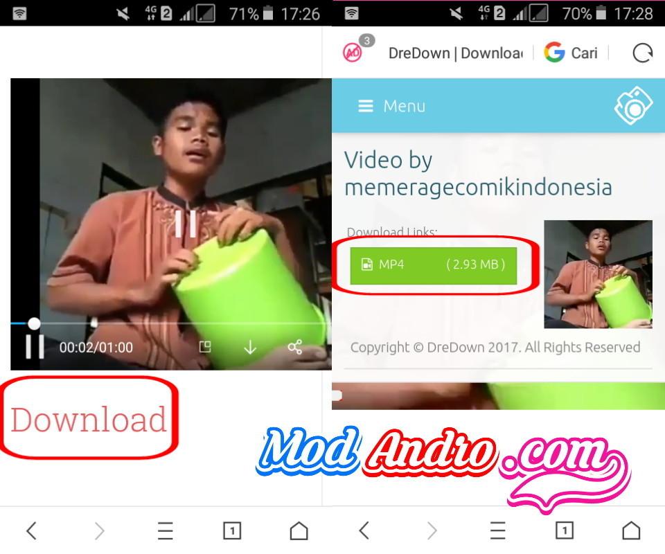 cara download  video instagram web