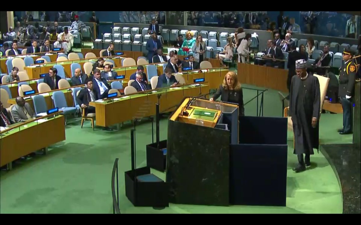 Transcript Of President Muhammadu Buhari's Speech At 72nd United Nations General Assembly