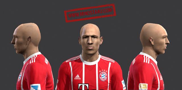 PES 2013 Arjen Robben Face