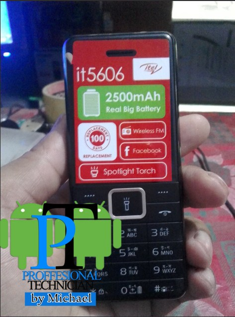 ITEL 5606 MT6261 FIRMWARE FLASH FILE WITH FLASHING TOOL