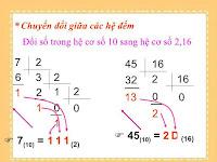 chuyển đổi giữa các hệ đếm trong tin học 10