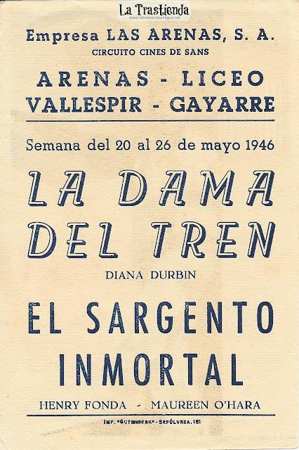 La Dama del Tren - Programa de Cine - Diana Durbin - Ralph Bellamy