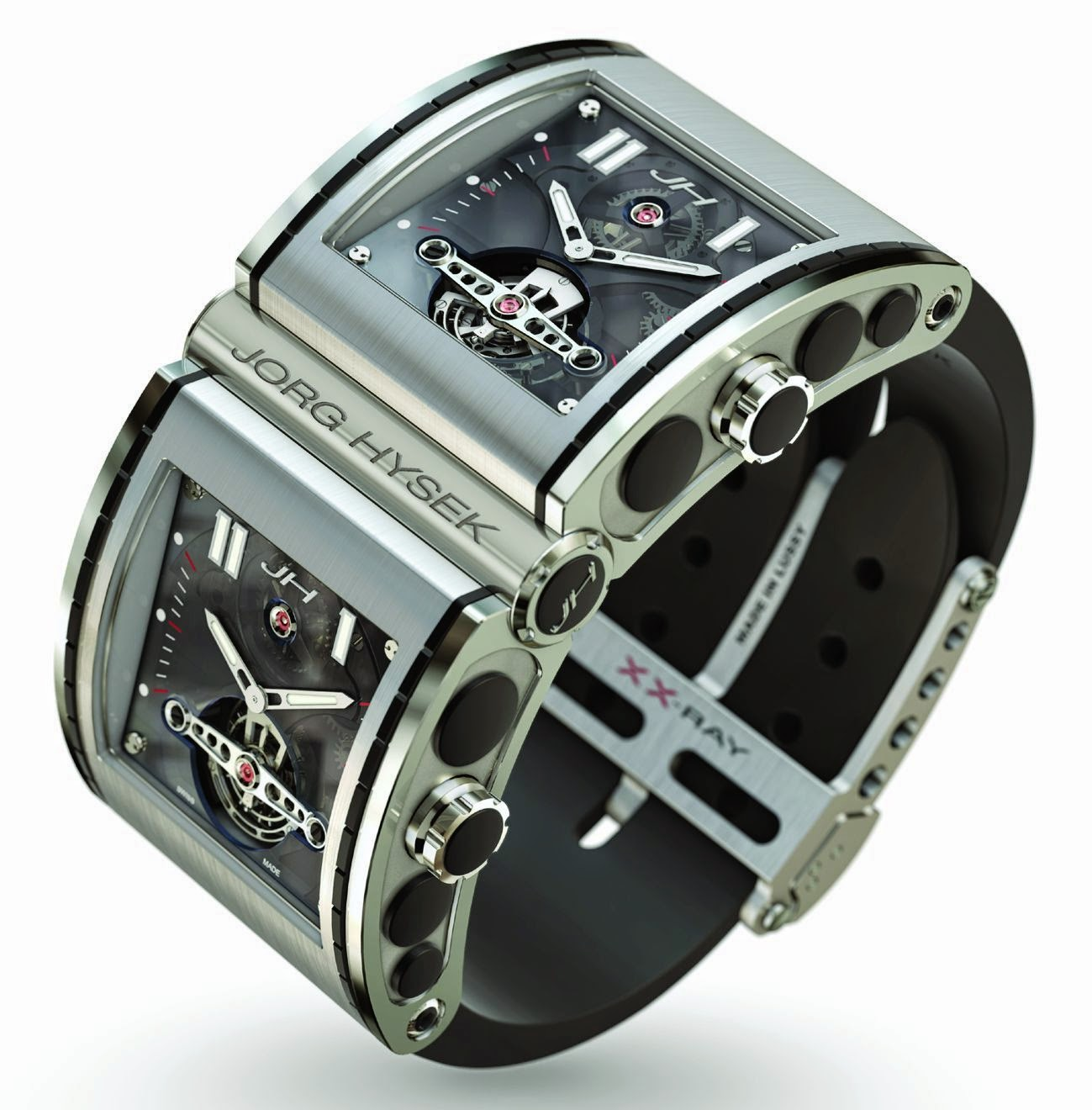 JORG HYSEK XX-Ray automatic two tourbillon watch