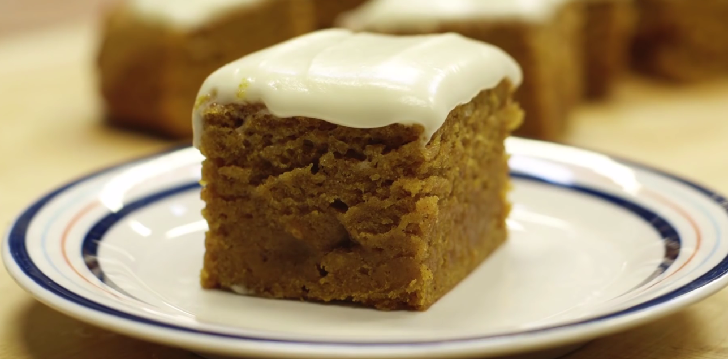 Pumpkin Cake with Cream Cheese Frosting!