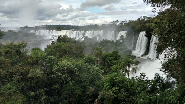 a jungle view of the width and breadth of Iguazu