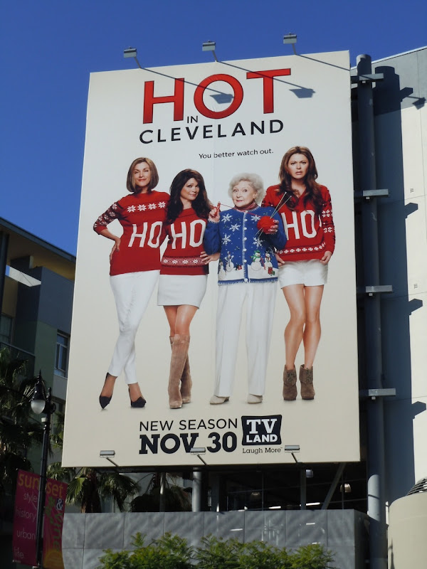 Hot in Cleveland Ho Ho Ho billboard