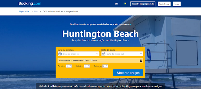 Booking para se hospedar na melhor região em Huntington Beach