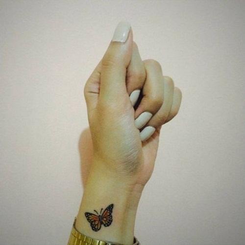 Pequena Borboleta Pulso De Tatuagem