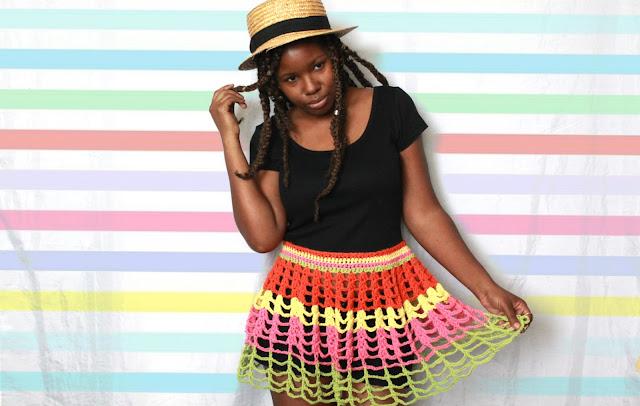 DIY // How To Create A Crochet Crop Top Dress // Free Pattern/Tutorial!