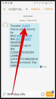 Cara Isi Saldo KHPulsa Lewat SMS