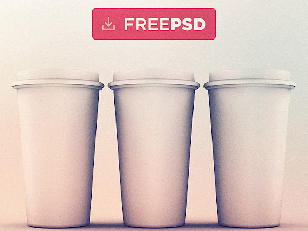 Download Coffee Cups Mockup PSD Free