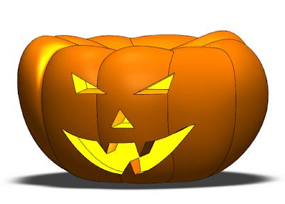 apariencia calabaza de halloween con solidworks