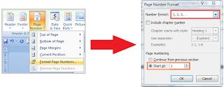 Tips Membuat Nomor Halaman Dengan Format Berbeda Di Word9