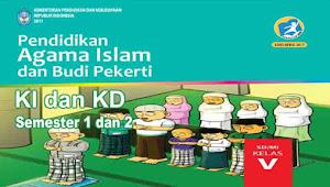 KI dan KD PAI dan BP Kelas 5 SD Kurikulum 2013 Revisi 2017