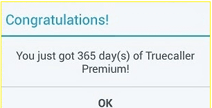 True Caller 1 Year Premium Account for Free (Trick 2)