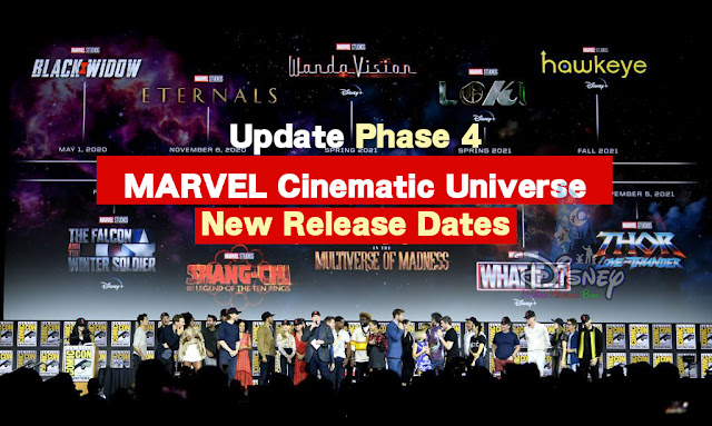 New Release Dates-Marvel Studios-Phase 4 Movies Black Widow Delay
