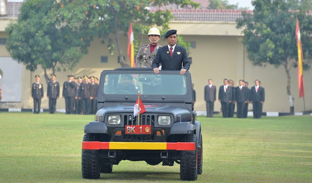 Gubsu Pimpin Upacara HUT Bhayangkara ke-69