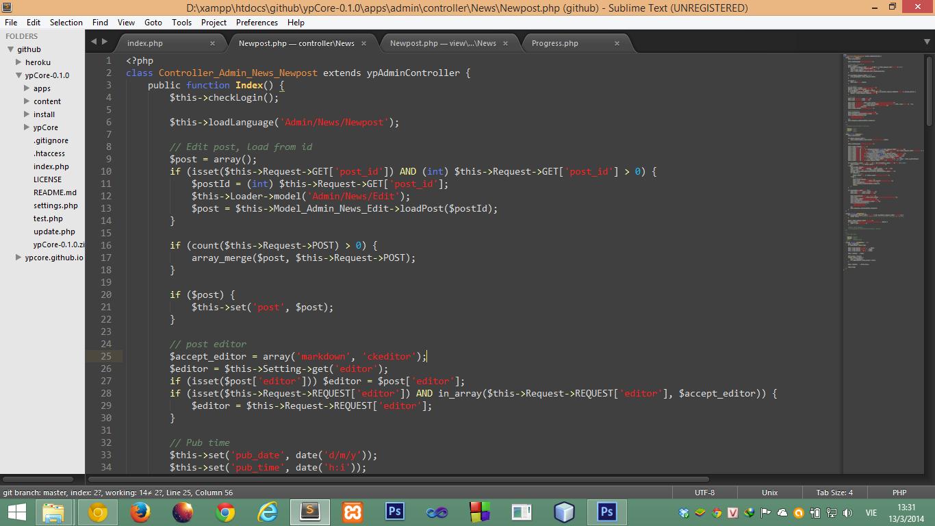 Sublime Text 3 - editor mạnh mẽ cho lập trình viên PHP