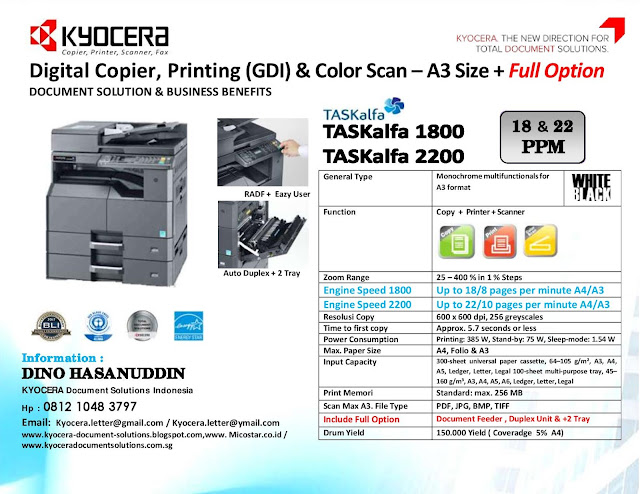 kyocera Digital Copier and Multifunction: KYOCERA DOCUMENT