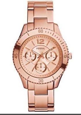 Jam tangan fashion fossil jual fossil stella es3863 rose gold jam tangan wanita