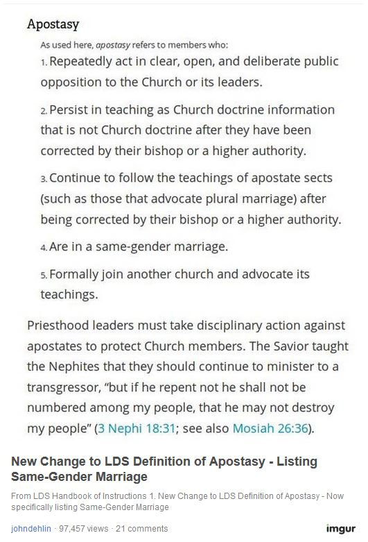 Jons Blog Lds Church Married Gays Are Apostates Deserving