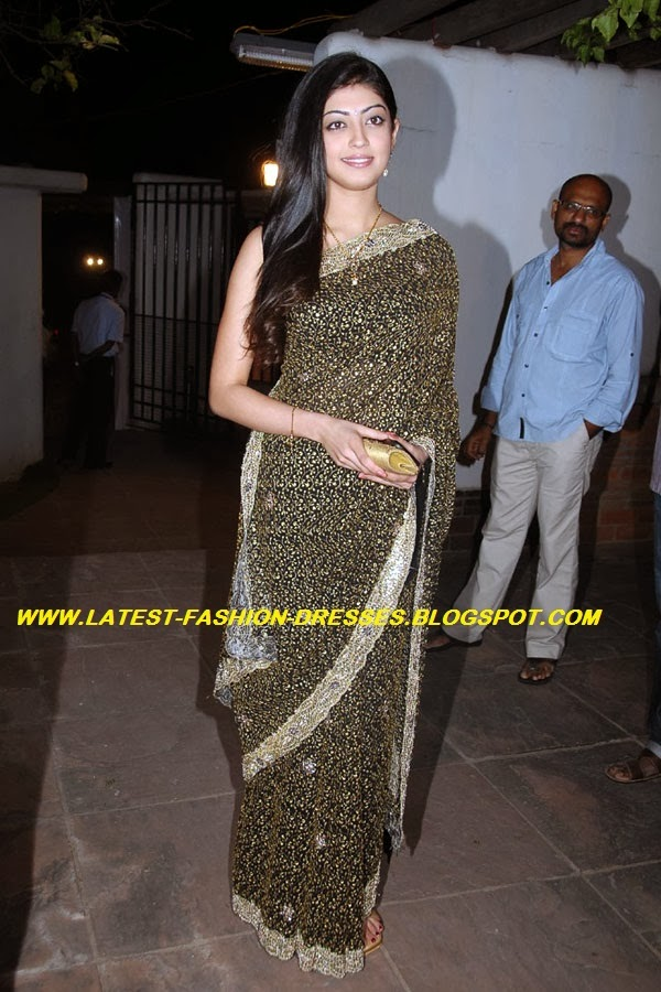 pranitha subhash wearing saree spotted bava