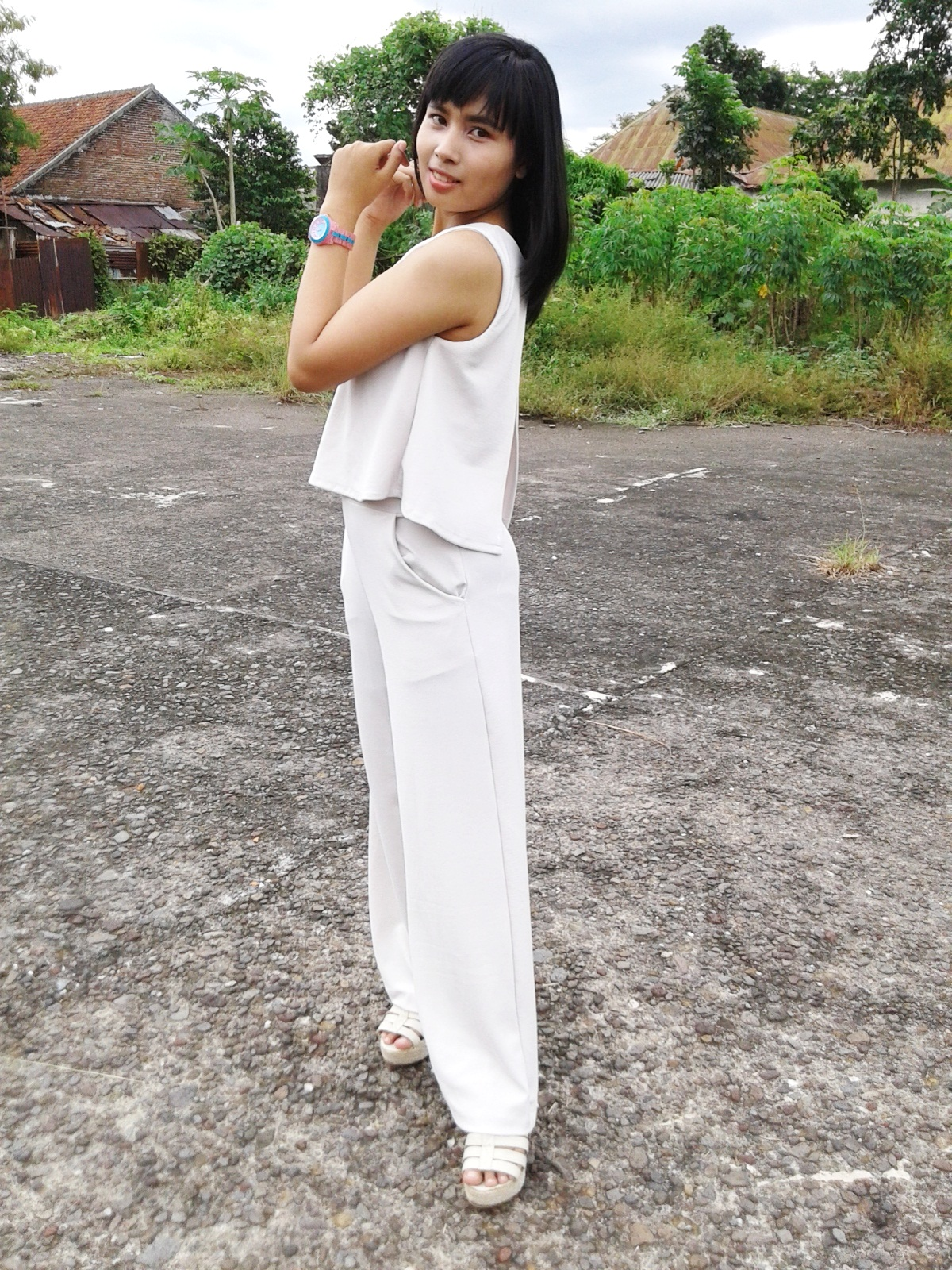 Flare Top with Culotte Jumpsuit
