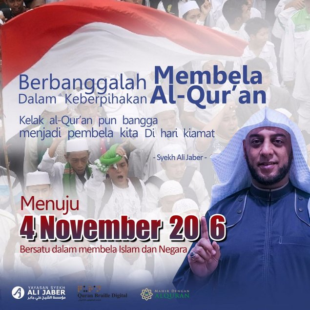 dukungan untuk 4 november