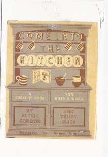 Cool vintage cookbook cover postcard from my pen pal Kelly