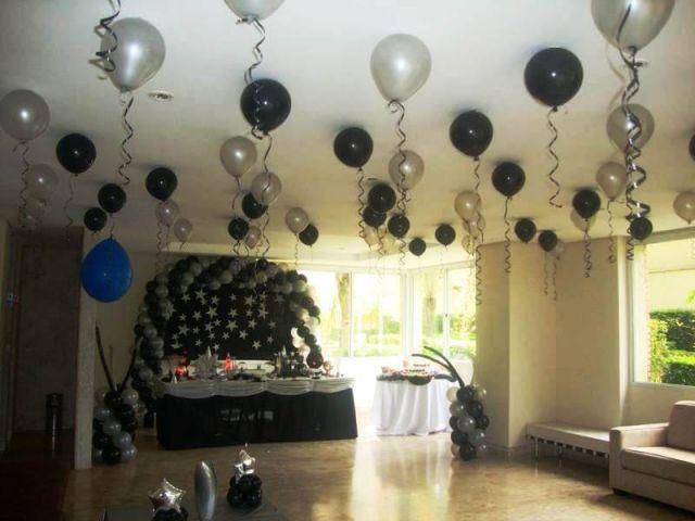 Decoraç u00e3o Com Bexigas No Teto -> Decoração De Festa Com Balões No Teto