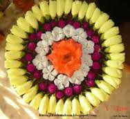 Flower Decoration In Rangoli