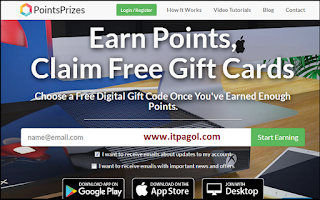PointsPrize screen
