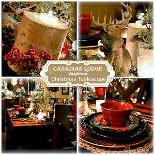 Dining Delight: Canadian Lodge Inspired Christmas Tablescape