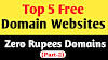 Top 5 Free Domain Websites   Zero Cost Website Making Unlimited Domains Part-2