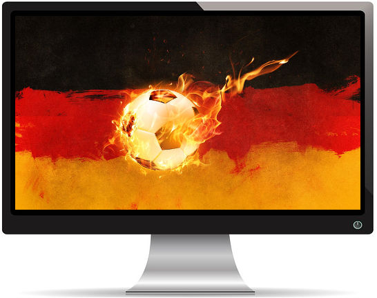 Drapeau Allemagne Ballon de Foot - Fond d'écran en Full HD