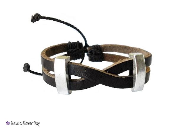 Pulsera cuero para hombre · Men's leather bracelet