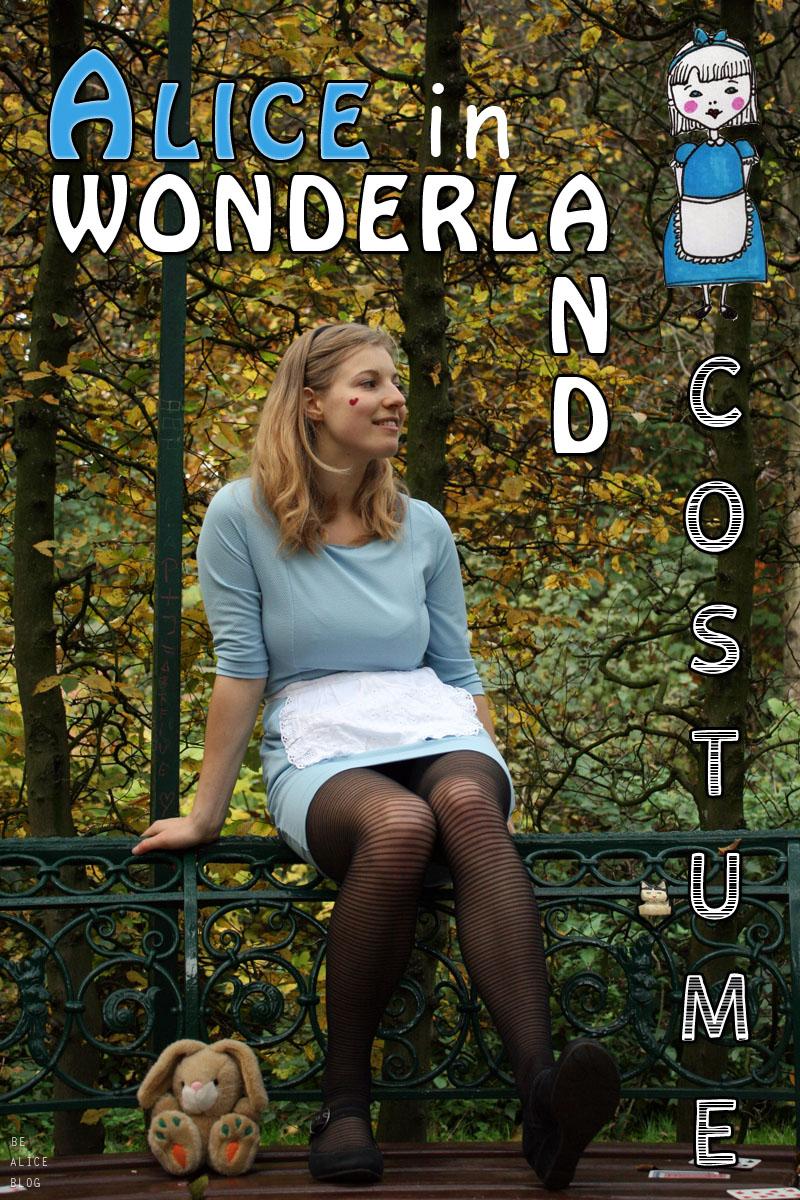 alice, wonderland, costume, halloween, diy, tutorial, outfit