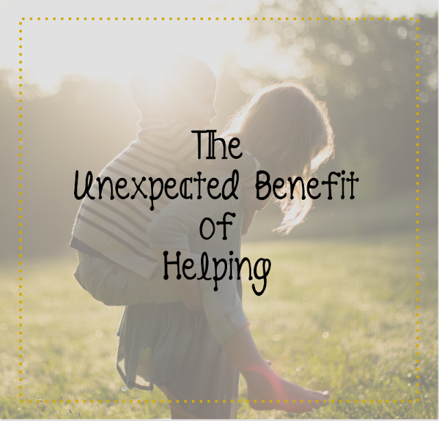 The Unexpected Benefit of Helping -- If God wanted to send angels to help people in response to their every prayer He could, but I think He usually leaves it to us for a reason.  {posted @ Unremarkable Files}