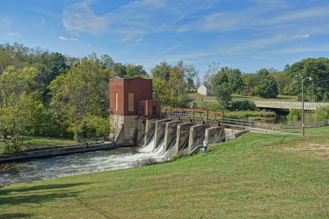 Pucker Street Hydroelectric Dam in Niles, Michigan