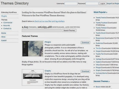 WordPress.org Official Themes Directory